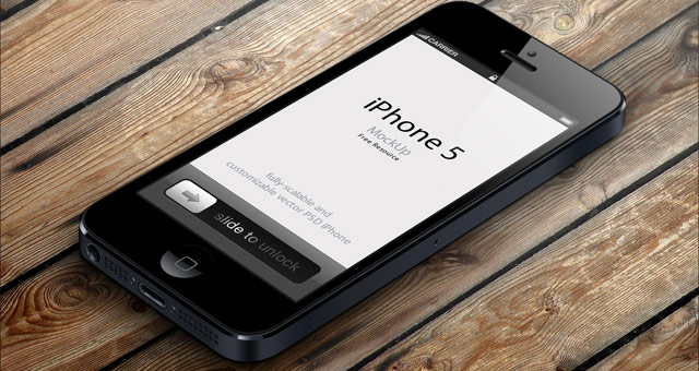 Bootstrap Css 3d View Iphone 5 Psd Vector Mockup | Psd Mock Up Templates
