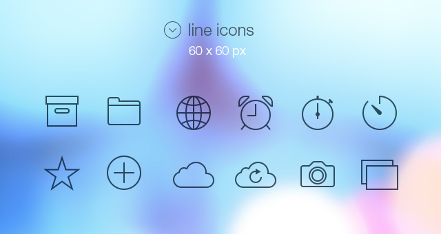 Mockup Iphone Video Tab Bar Icons Ios 7 | Media Icons | Pixeden