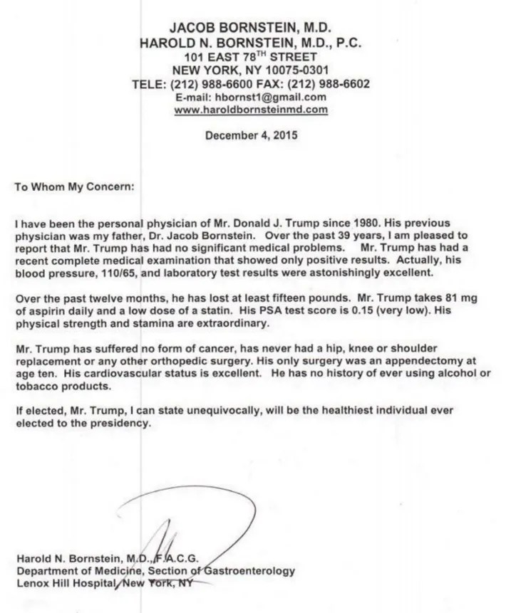 Doctor Spent Only 5 Minutes on Trump\u0027s Medical Report