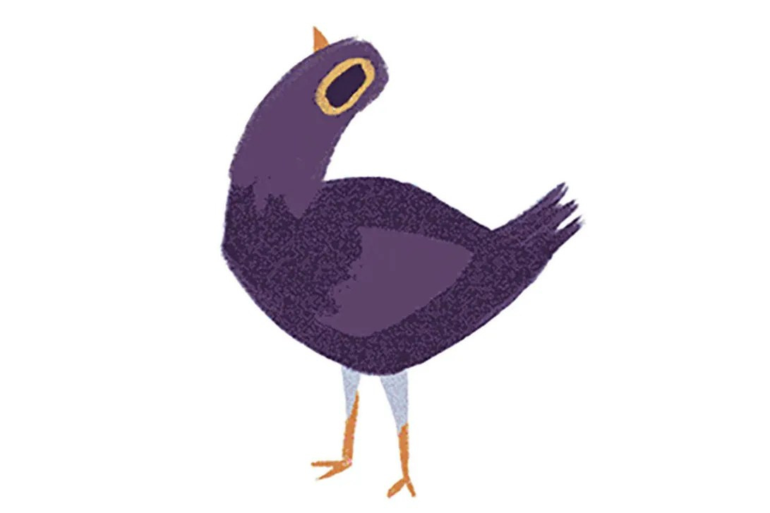 Cute Stickers For Facebook What Is Trash Dove The Purple Facebook Comment Sticker Bird