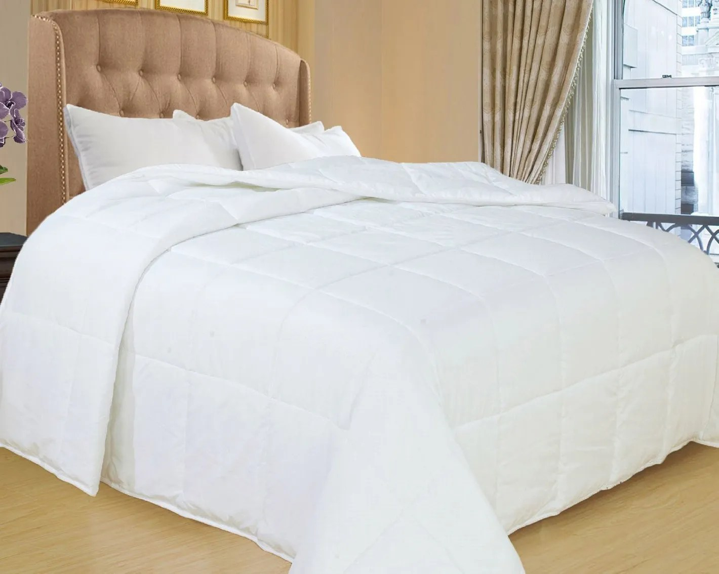 Duvet Covers And Comforters Natural Comfort White Down Alternative Comforter With Embossed Microfiber Shell