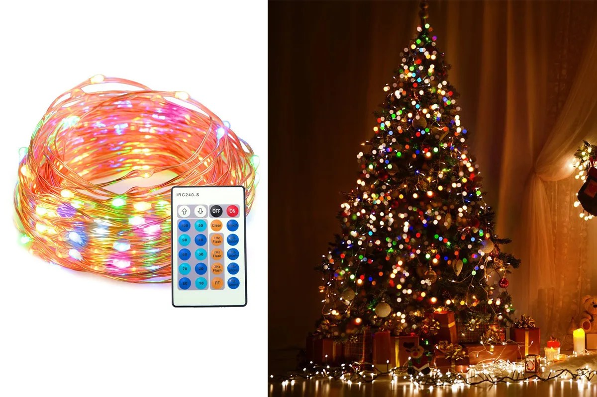 Christmas Led Lights Canada Taotronics Dimmable Waterproof 100 Led String Lights With Remote Control