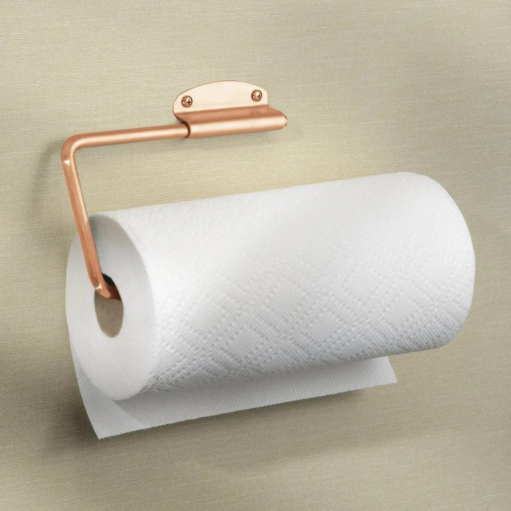 Wall Mount Paper Towel Dispensers Interdesign Forma Swivel Paper Towel Holder For Kitchen Wall Mount Under Cabinet Copper