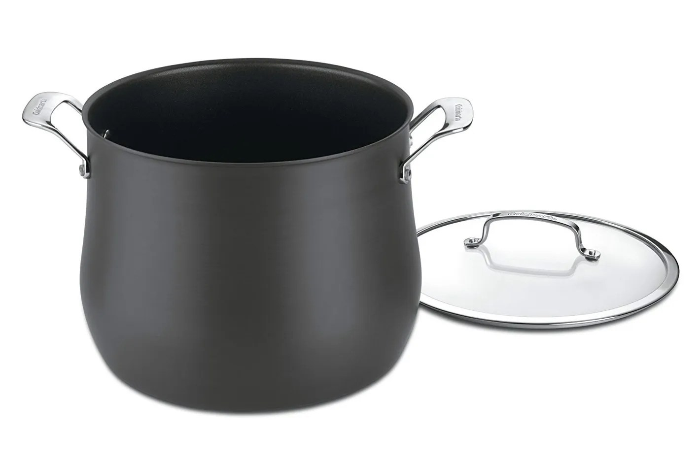 Big W Stock Pot Cuisinart 6466 26 Contour Hard Anodized 12 Quart Stockpot With Cover