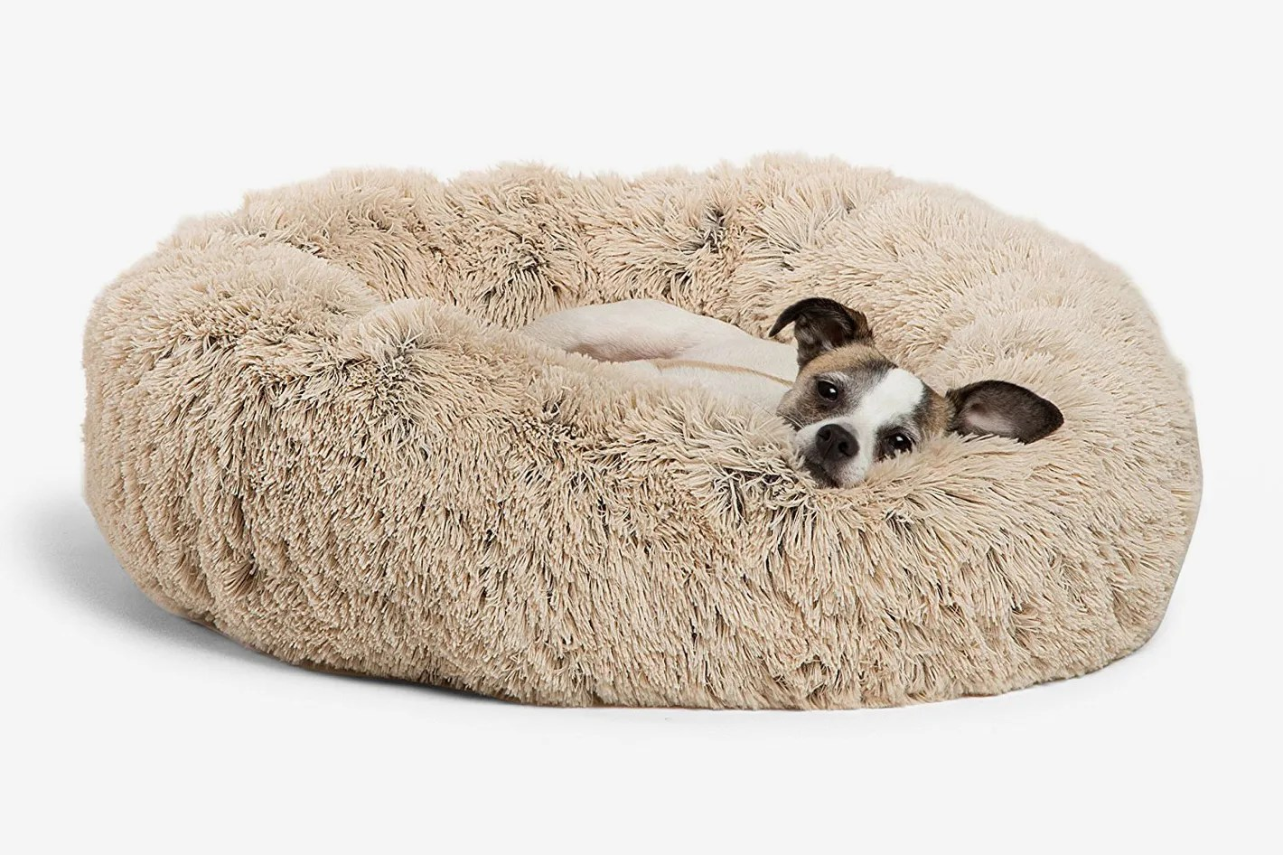 Dog Beds Pet Best Friends By Sheri Luxe Shag Faux Fur Donut Cuddler