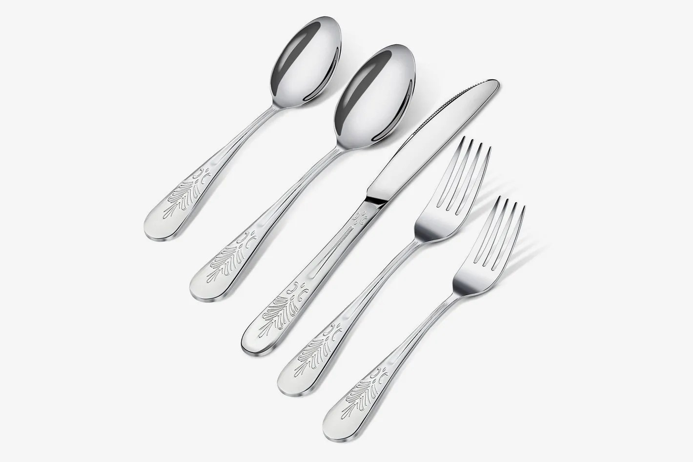 Used Flatware For Sale Utopia Kitchen 20 Piece Stainless Steel Flatware Set