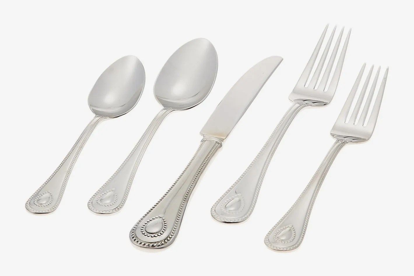 Used Flatware For Sale Lenox 65 Piece French Perle Flatware Set