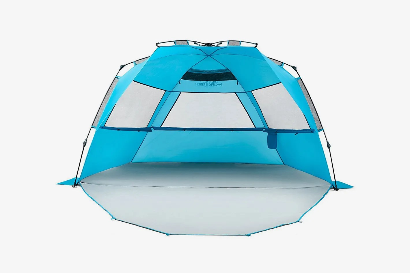 Pop Up Sun Shelter Canada Pacific Breeze Easy Setup Beach Tent Deluxe Xl With Extendable Floor