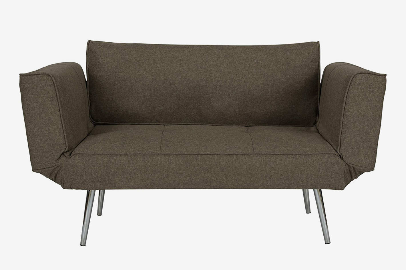 Best Places To Buy A Futon Dhp Euro Sofa Futon Loveseat With Chrome Legs And Adjustable Armrests