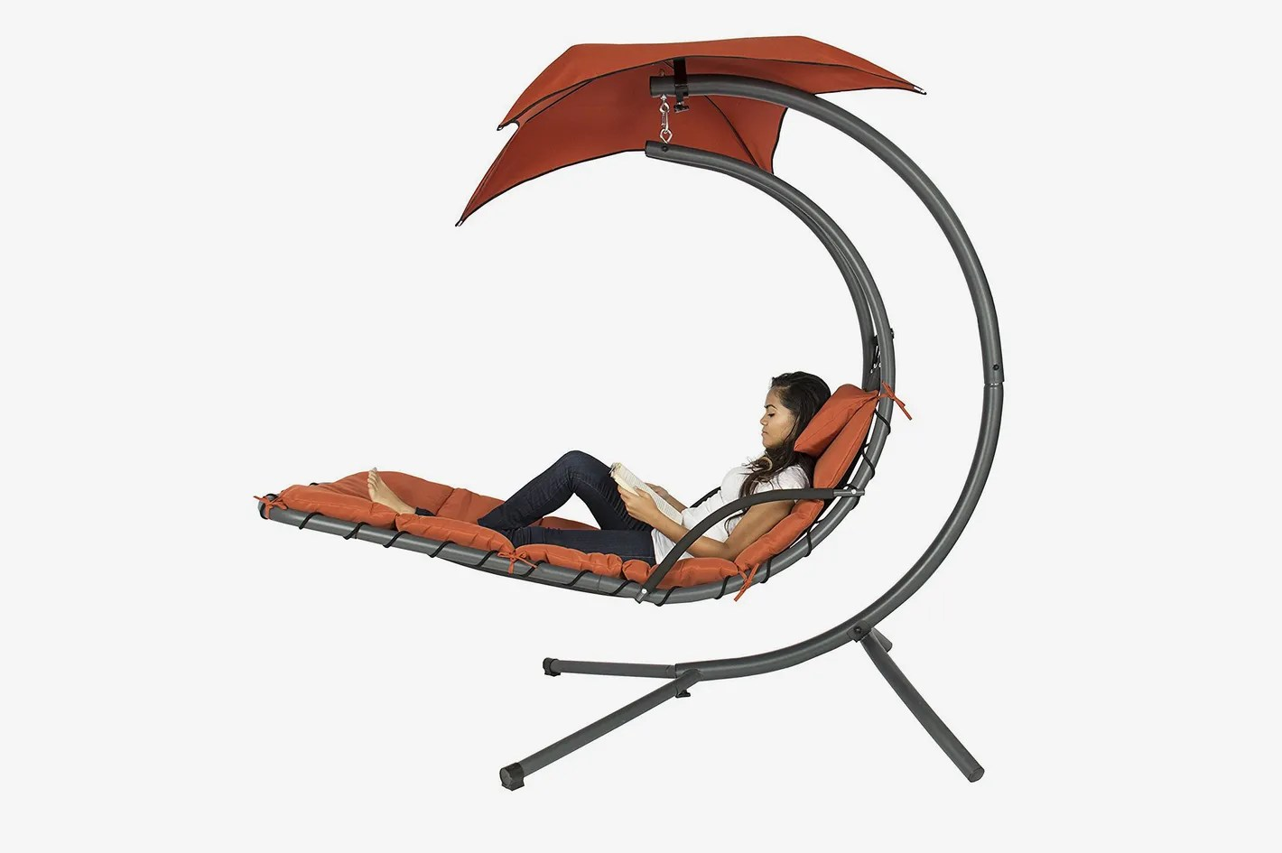 Hanging Outdoor Chairs Best Choice Products Hanging Chaise Lounger Chair