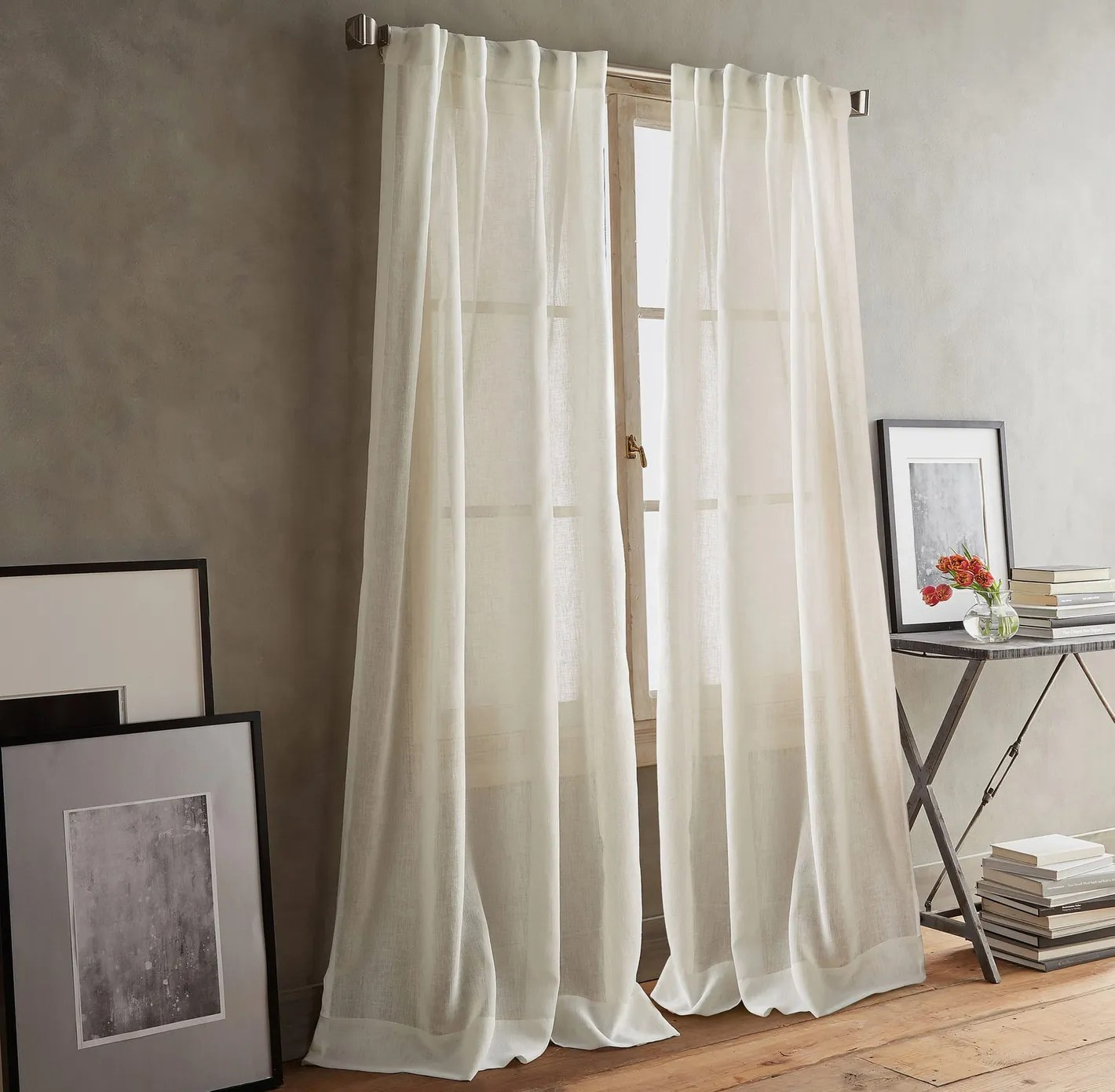 Scandinavian Ready Made Curtains Dkny Paradox Back Tab Window Panels Set Of 2