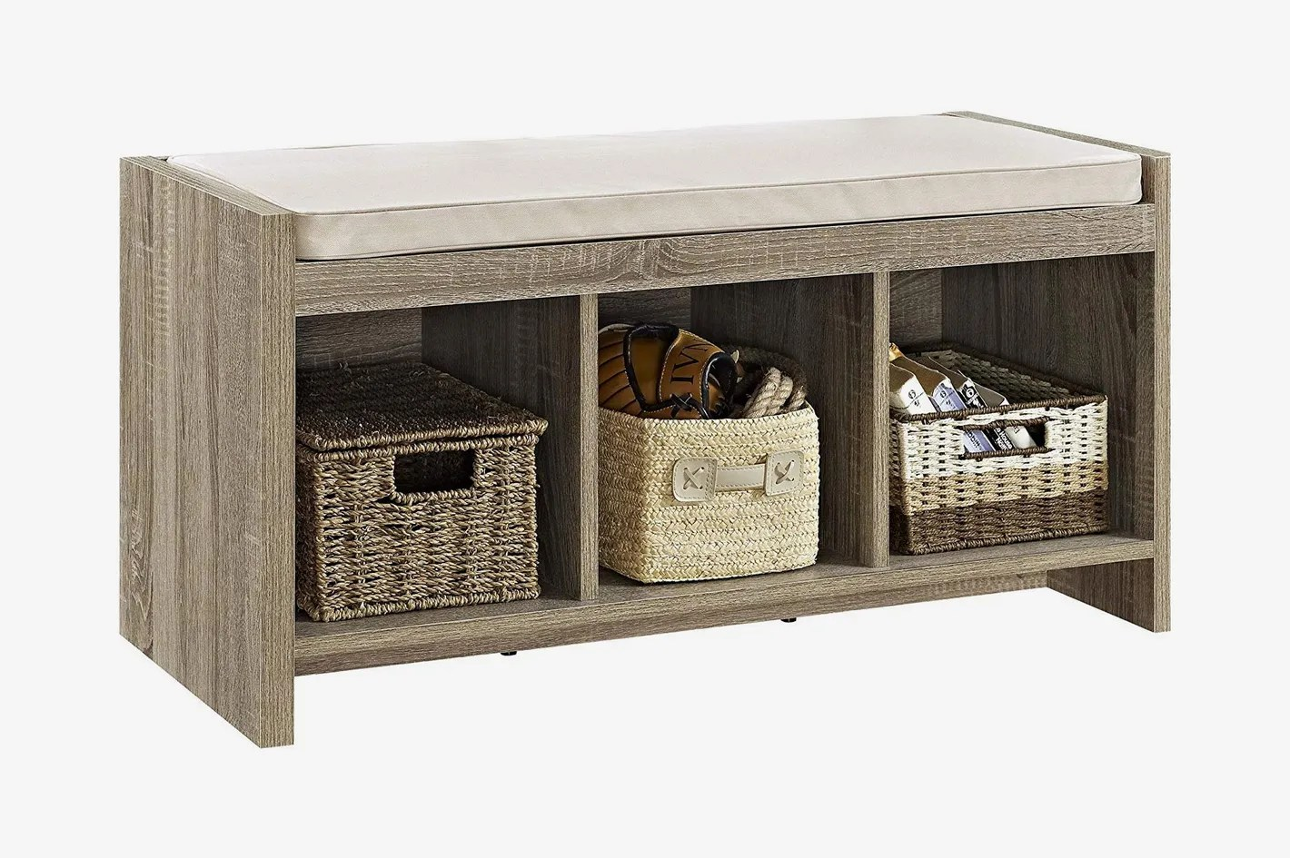 Seating With Storage Underneath Ameriwood Home Penelope Entryway Storage Bench With Cushion