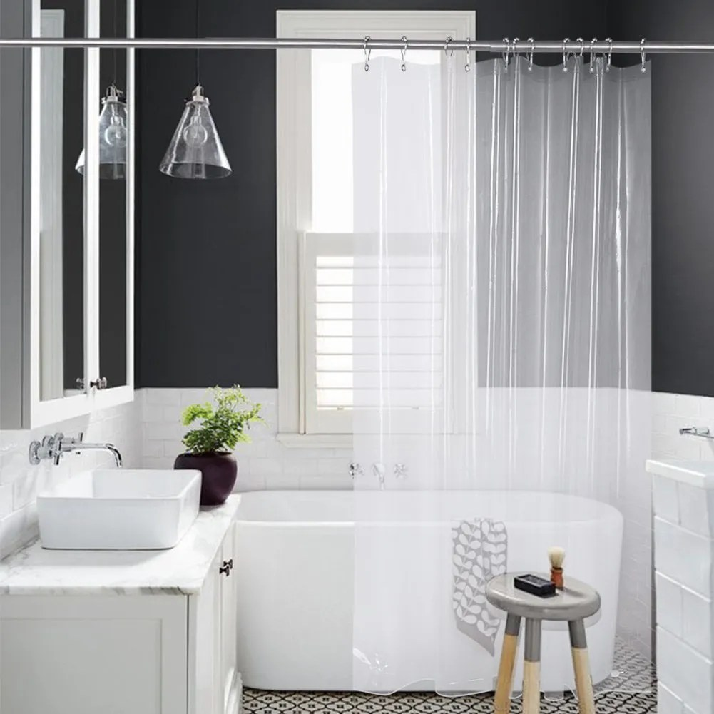 Bathroom Ideas With Shower Curtains Amazer Shower Curtain Liner
