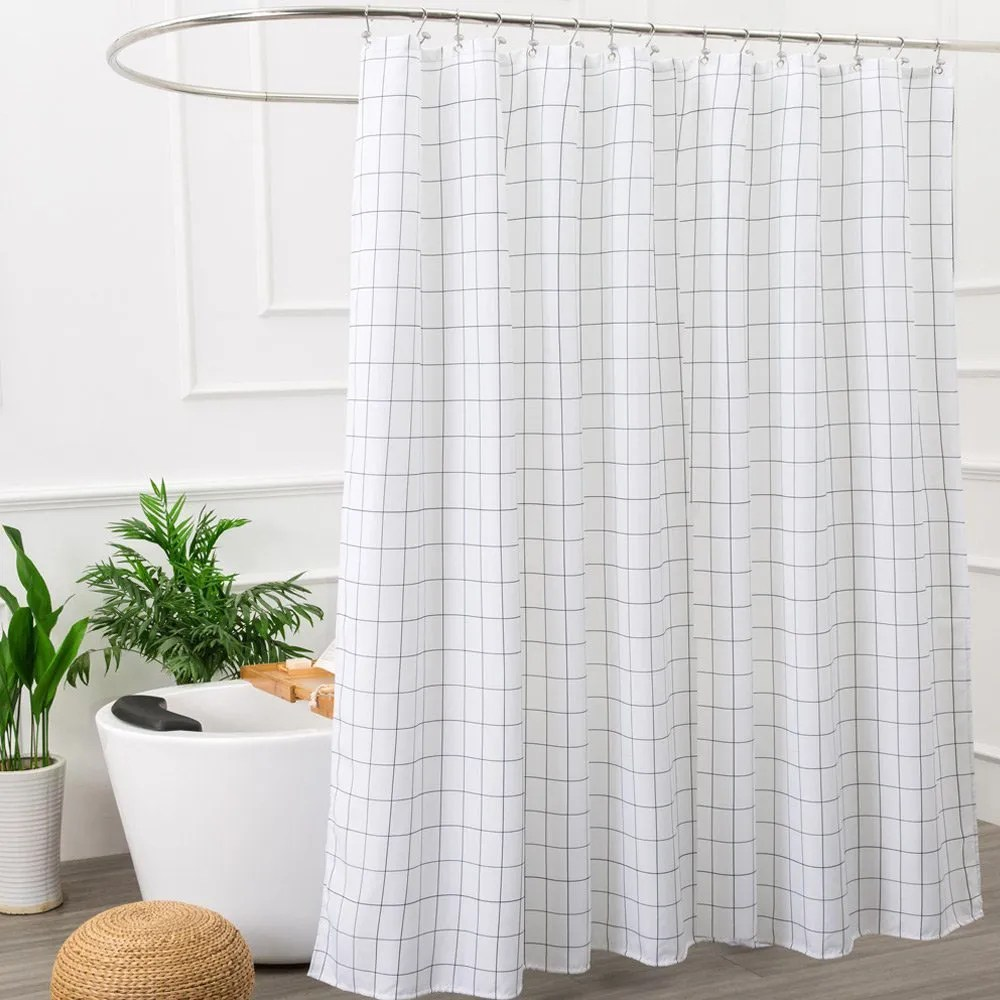 Shower Curtains For Less Aimjerry Mold Resistant Fabric Shower Curtain