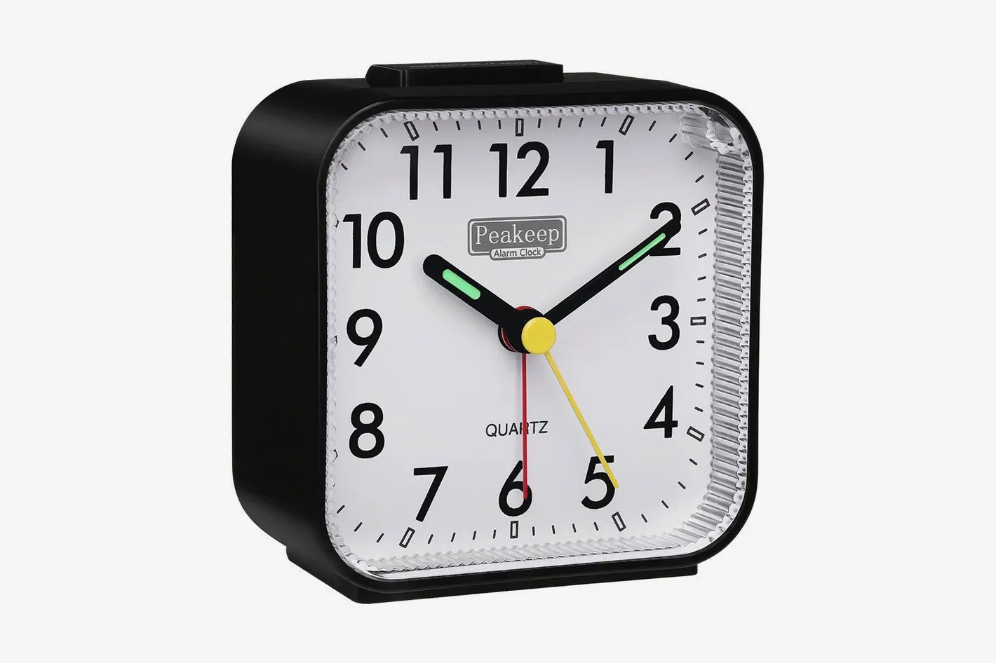 American Made Alarm Clock Peakeep Small Battery Operated Analog Travel Alarm Clock