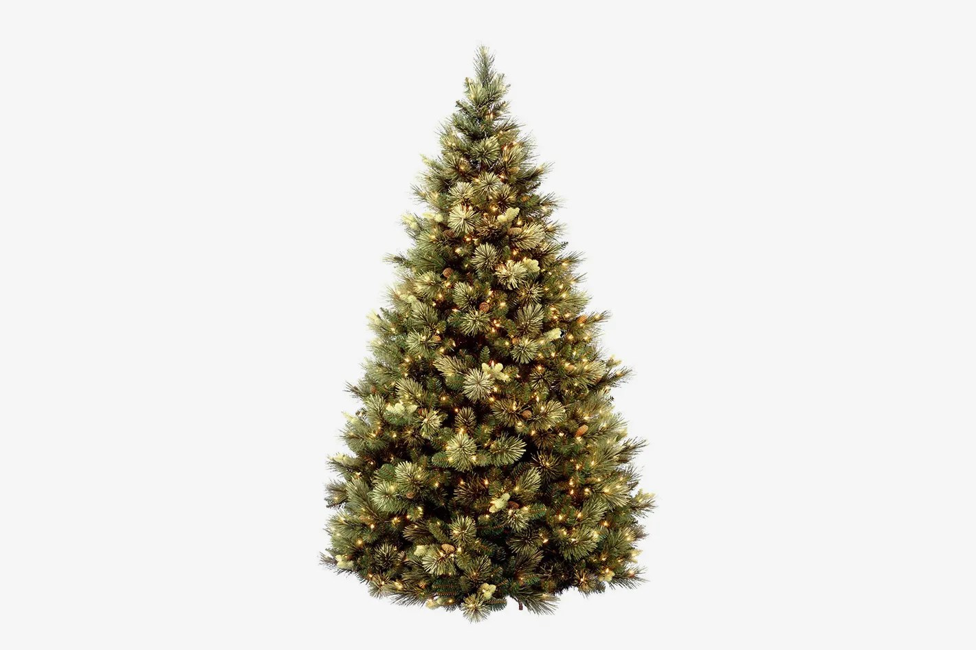 Christmas Tree Stand For Sale National Tree 7 5 Foot Carolina Pine Tree With Flocked Cones And 750 Clear Lights