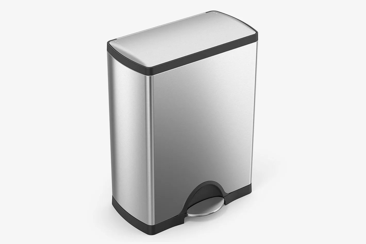 Metal Indoor Trash Can Simplehuman 50 Liter 13 2 Gallon Stainless Steel Rectangular Kitchen Step Trash Can Brushed Stainless Steel