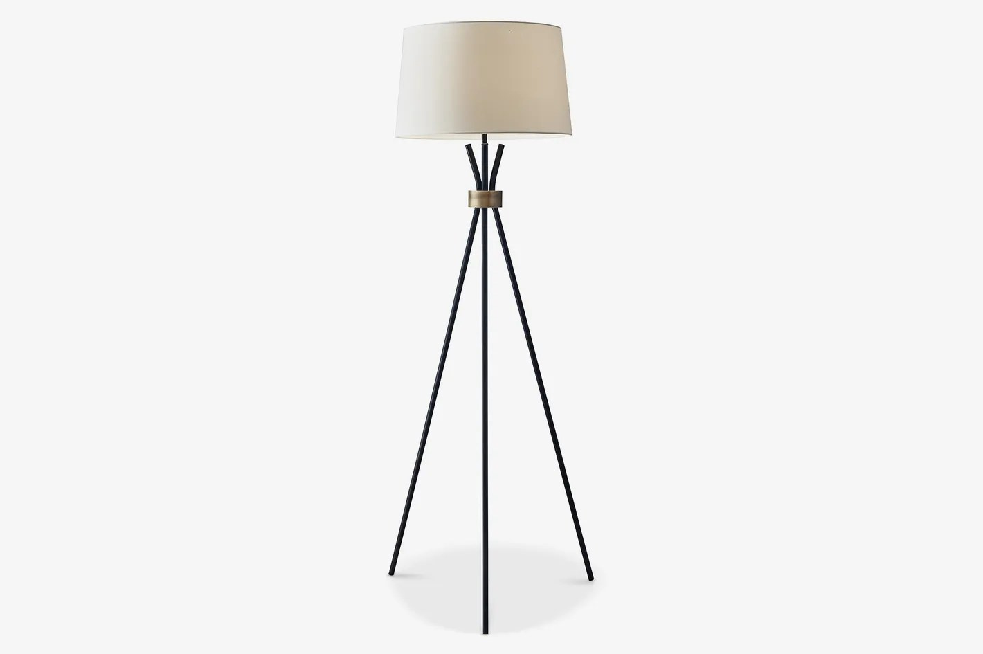 Fancy Standing Lamps Adesso Benson Tripod Floor Lamp