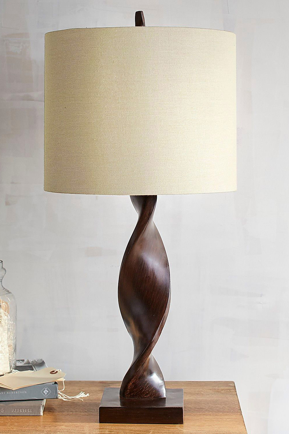 Funky Desk Lamps Brown Twist Table Lamp
