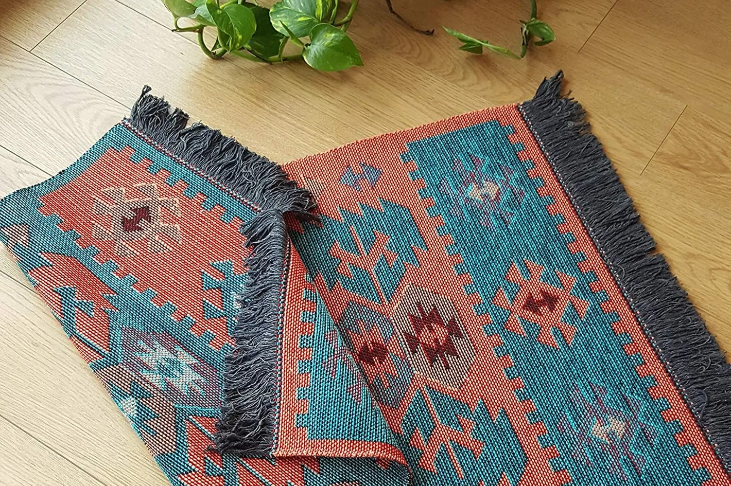 Machine Wash Rugs Secret Sea Collection Modern Bohemian Style Washable Area Rug