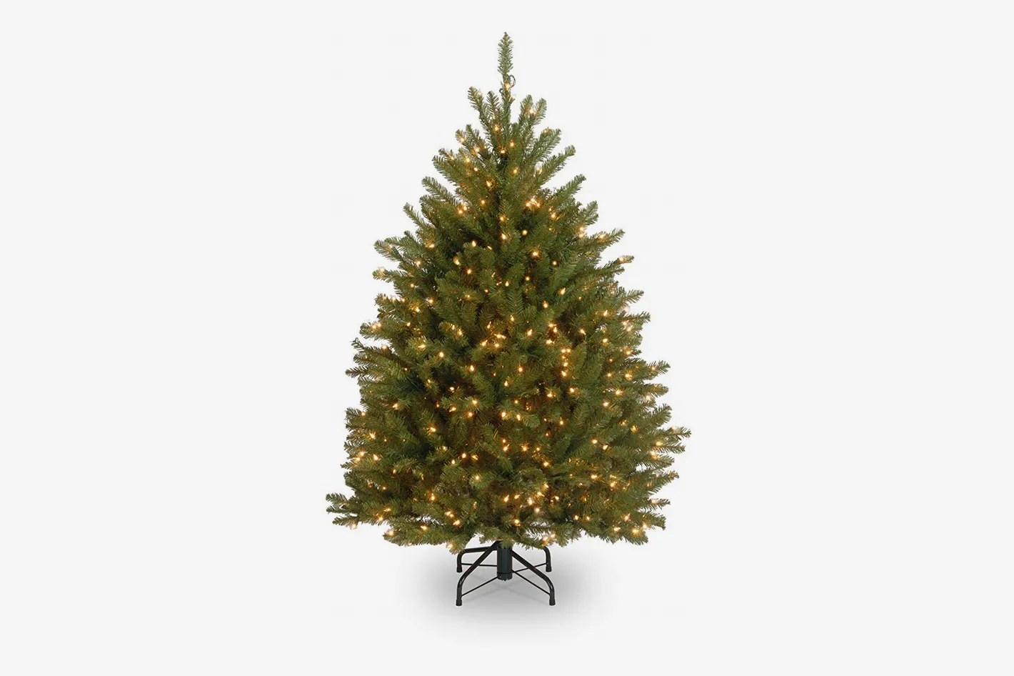 Christmas Tree Stand For Sale National Tree 4 1 2 Foot Dunhill Fir Tree With 450 Clear Lights