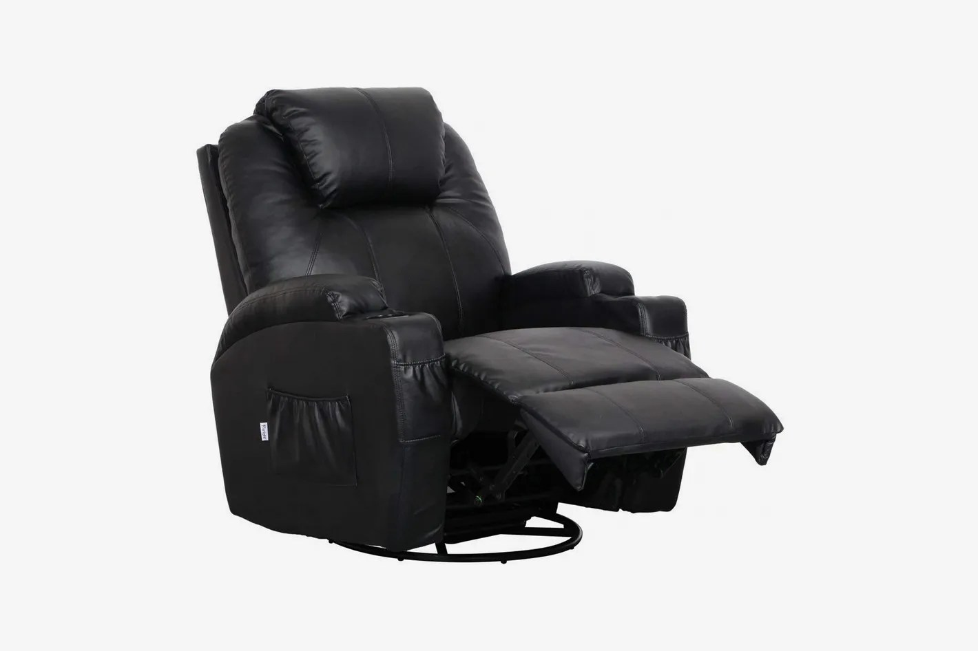 Chair Leather Reclining Swivel Esright Massage Recliner Chair Heated Pu Leather Ergonomic Lounge 360 Degree Swivel