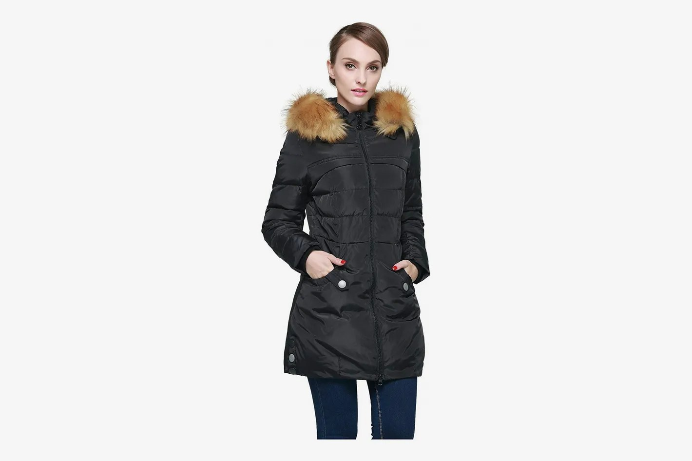 Fur Womens Orolay Women S Down Jacket With Faux Fur Trim Hood