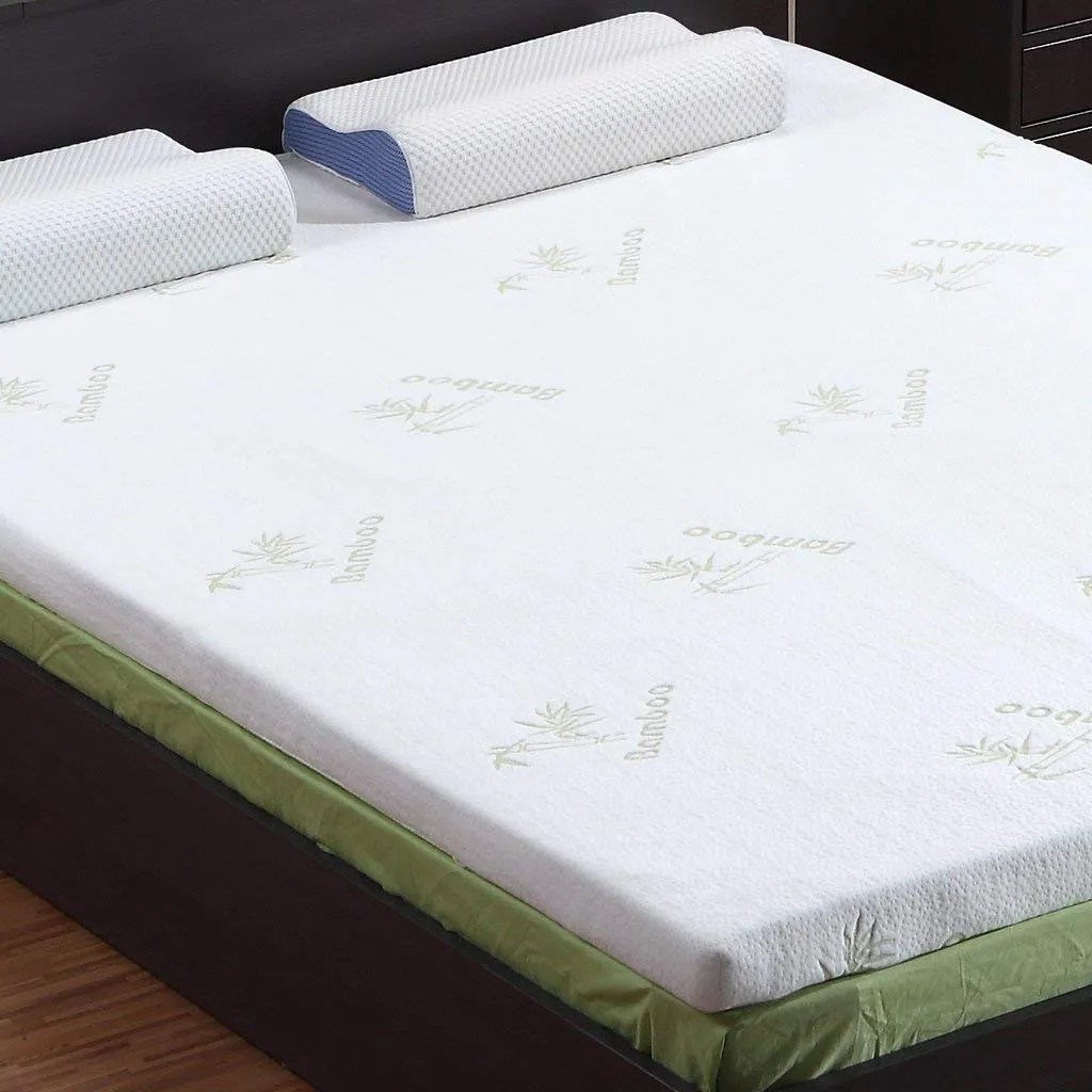 Bedroom Mattress Langria 3 Inch Gel Infused Memory Foam Mattress Topper