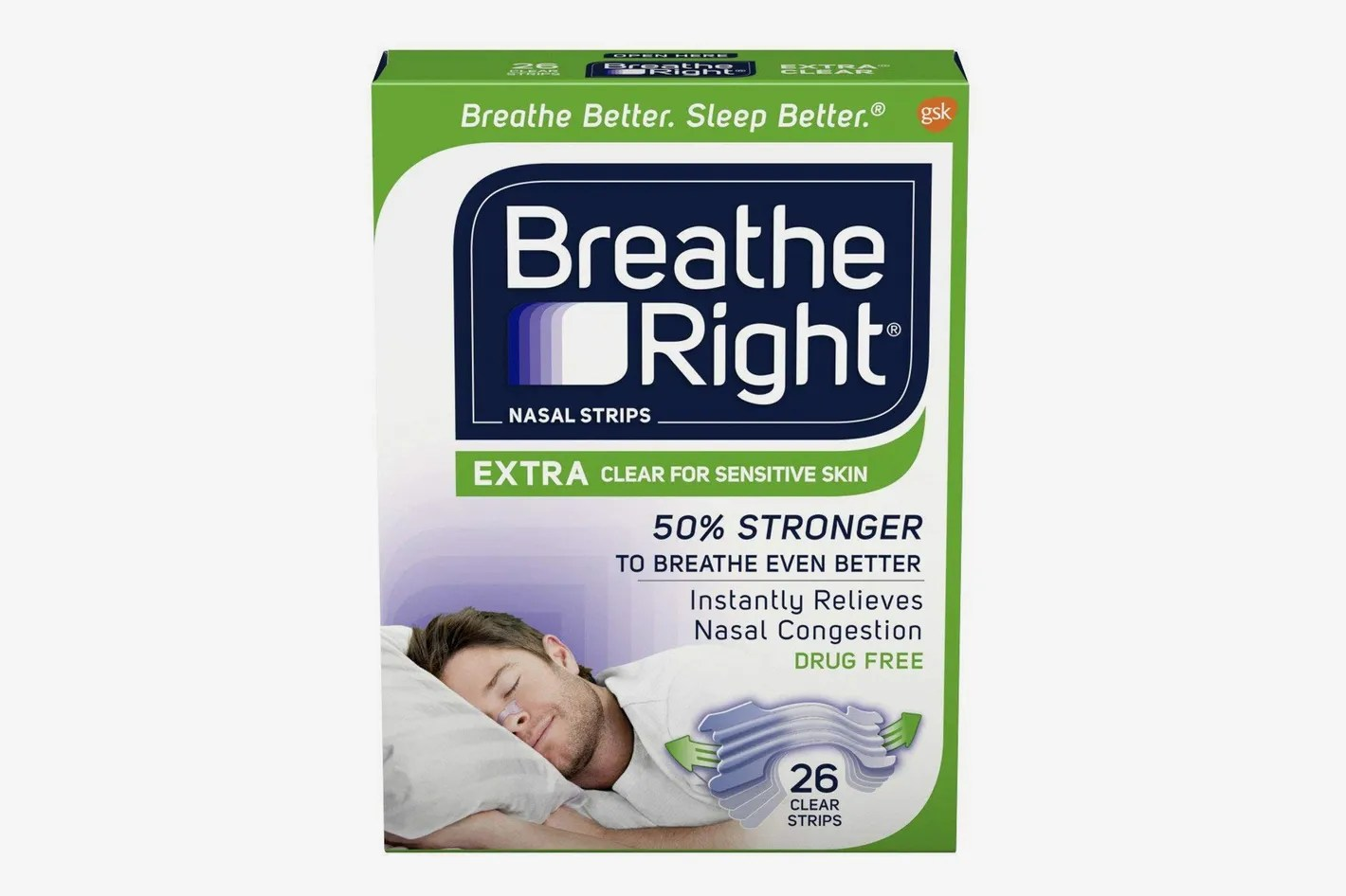 Stop Snoring Aids Breathe Right Nasal Strips To Stop Snoring Drug Free Extra Clear 26 Count