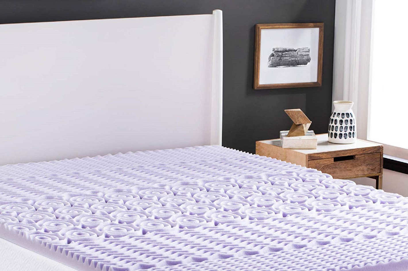 Wool Mattress Pad Reviews Lucid 2 Inch 5 Zone Lavender Memory Foam Mattress Topper