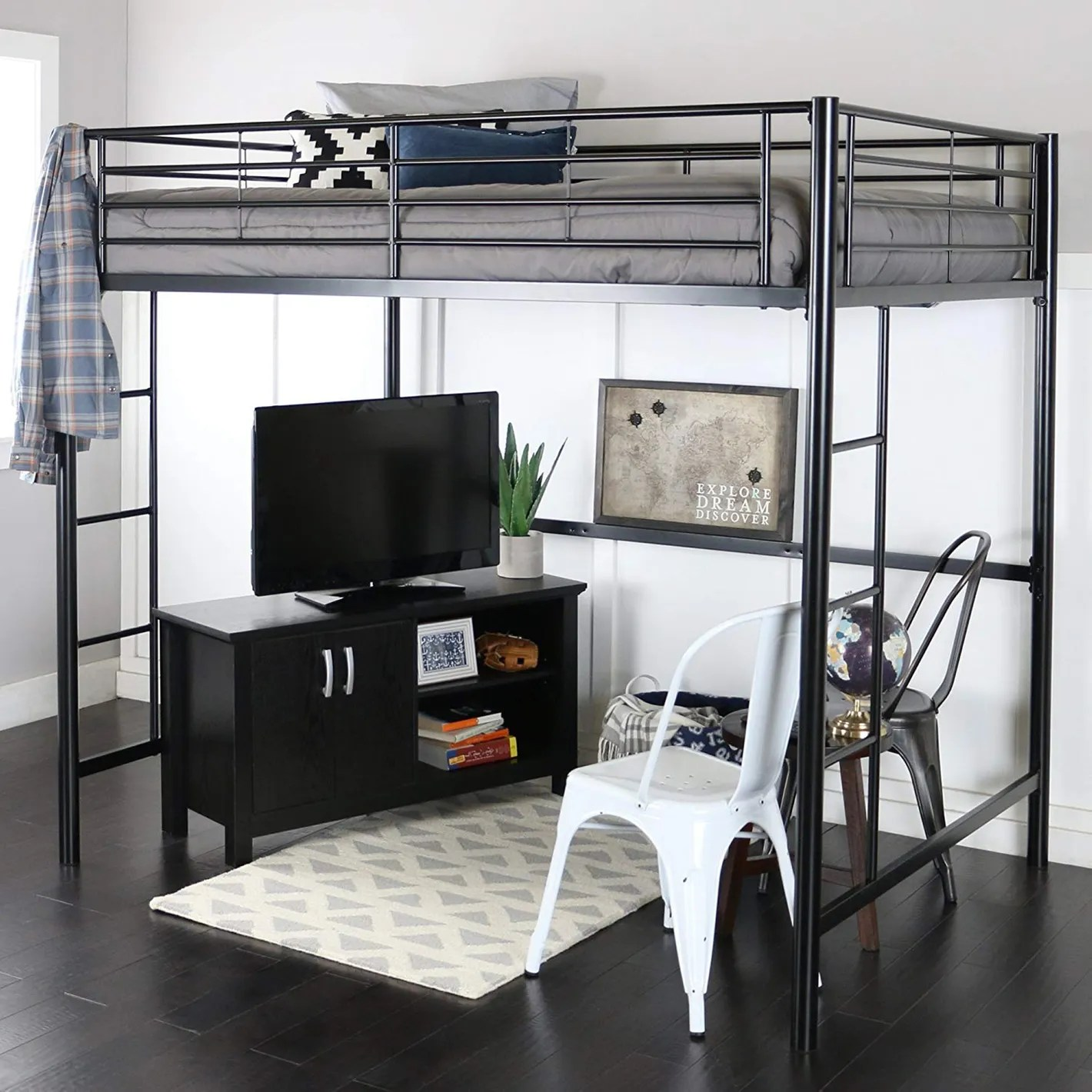 Land Of Beds Reviews We Furniture Full Metal Loft Bed