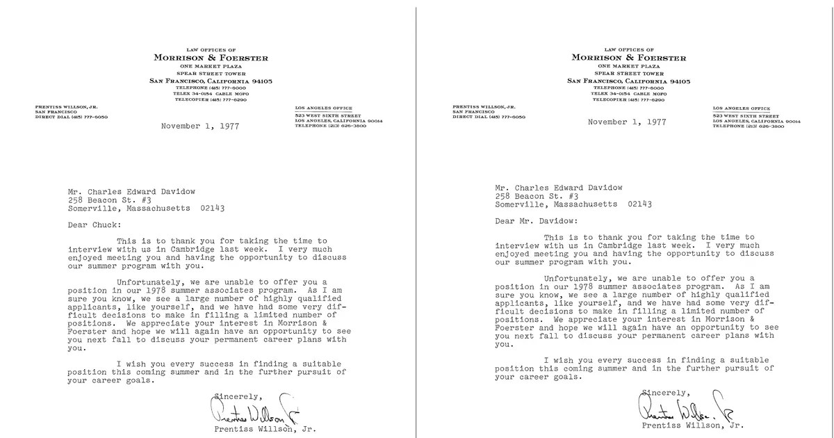 Read a Rejection-Letter Reply So Brilliant, It Got Him Hired - investor rejection letter samples