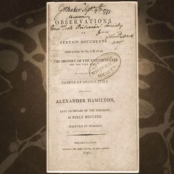 Read the Actual Reynolds Pamphlet From Hamilton, Page by Original Page