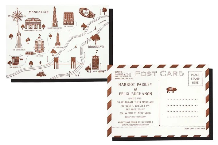 Best Postcard Wedding Invitations - post card invitations