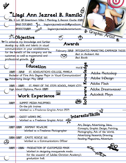 Creative Resume Headings Examples | Rental Agreement Template Ontario