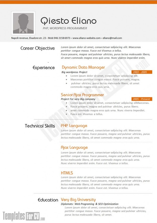Cv Example A Expertly Laid Out Physics Teacher Curriculum Vitae - Cv Forms Samples