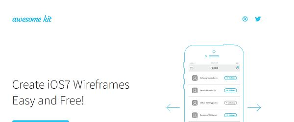 Top 15 Web and Mobile GUI Kits and Wireframe Templates - PIXEL77 - wireframe templates