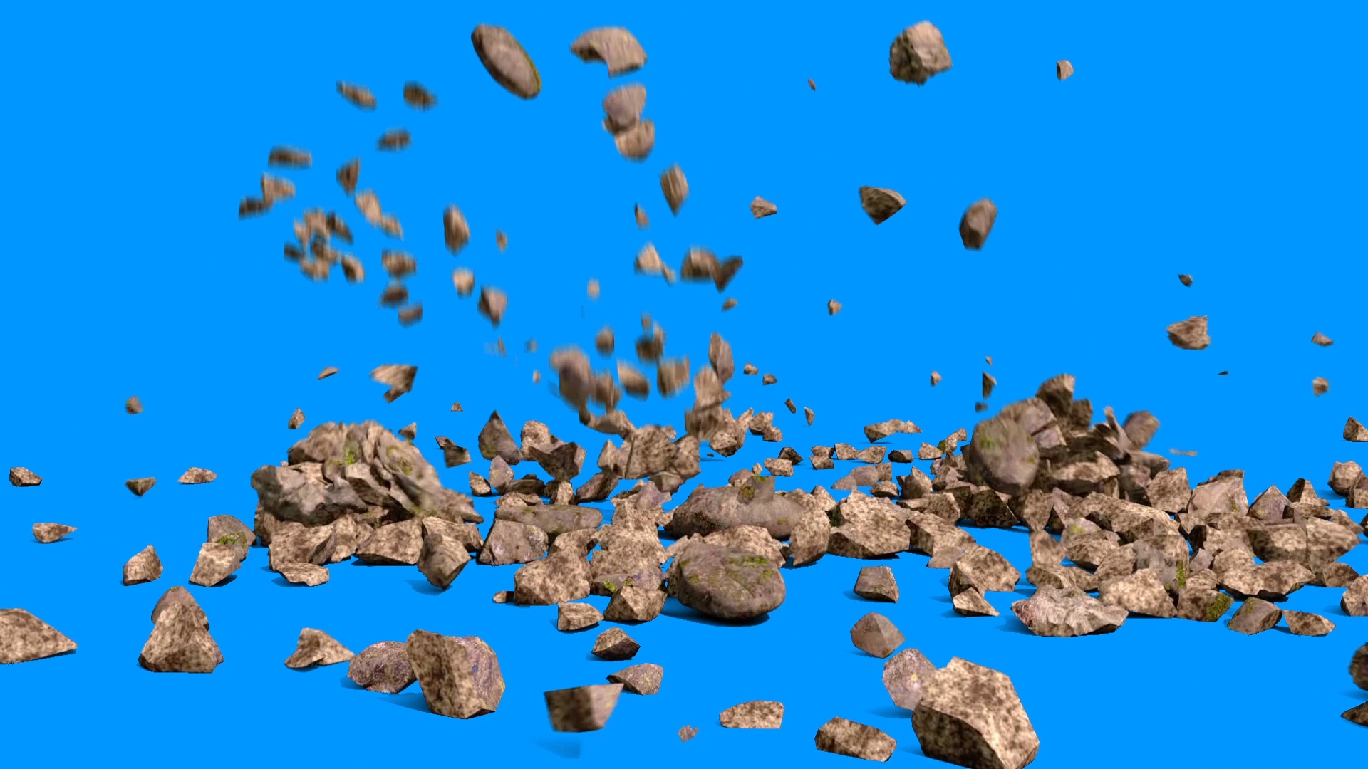 Animated Fall Wallpaper Rock Fall Stones 3d Model Animated Pixelboom