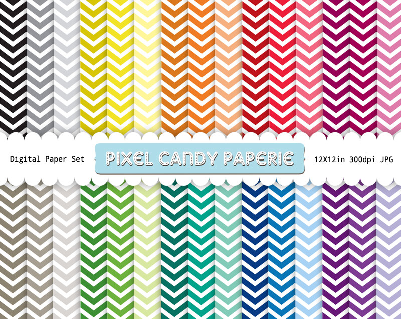 Free Small Chevron Printable Digital Papers Pack 1 Pixel Candy Paperie