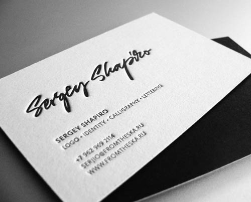 100 Best Letterpress Business Cards Pixel Curse