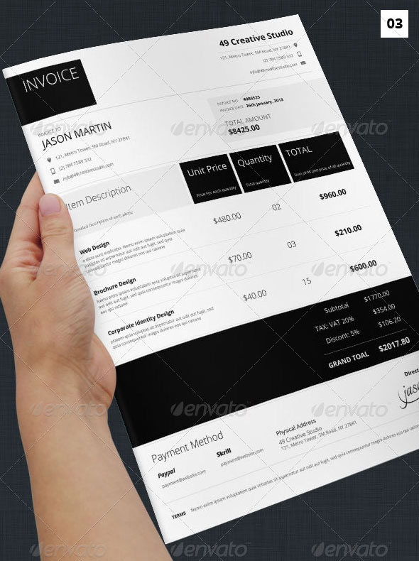invoice template keynote | resumes cv examples galery, Invoice templates