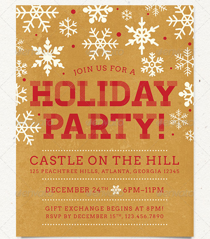 free holiday party flyer templates - Selol-ink