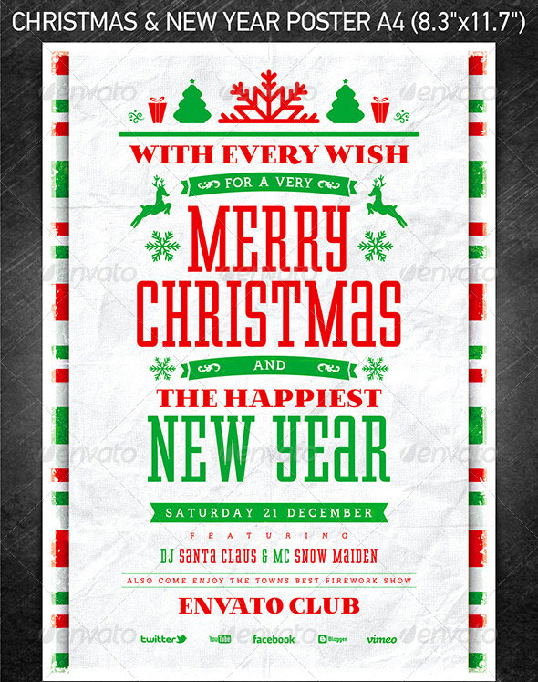 30 Christmas Holiday PSD  AI Flyer Templates Pixel Curse