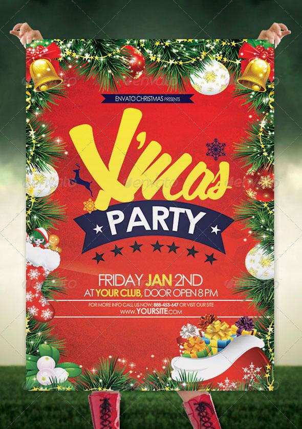 30 Christmas Holiday PSD  AI Flyer Templates Pixel Curse - holiday party flyer template