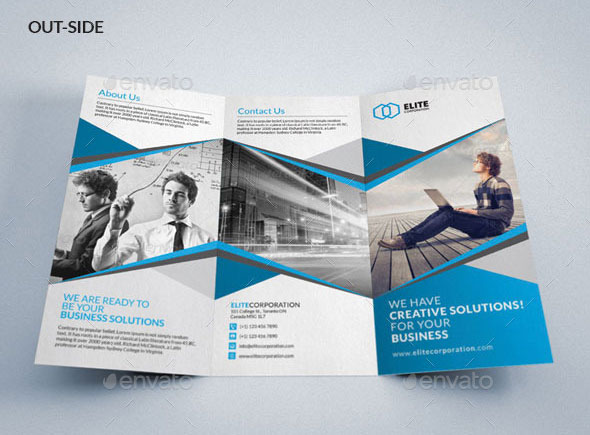 Tri Fold Brochure Template Simple Tri Fold Brochure Template 20+ - psd brochure design inspiration