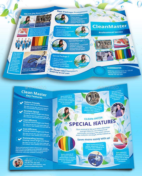 45 Best PSD Tri-fold Brochure Templates Pixel Curse - cleaning brochure template
