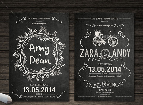 25 Unique  Beautiful Wedding Invitation Designs Pixel Curse - chalk board invitation template
