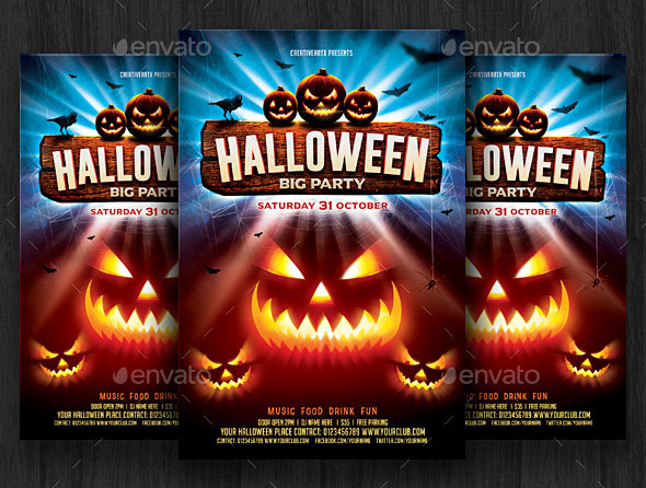 halloween flyer - Acurlunamedia - halloween flyer template