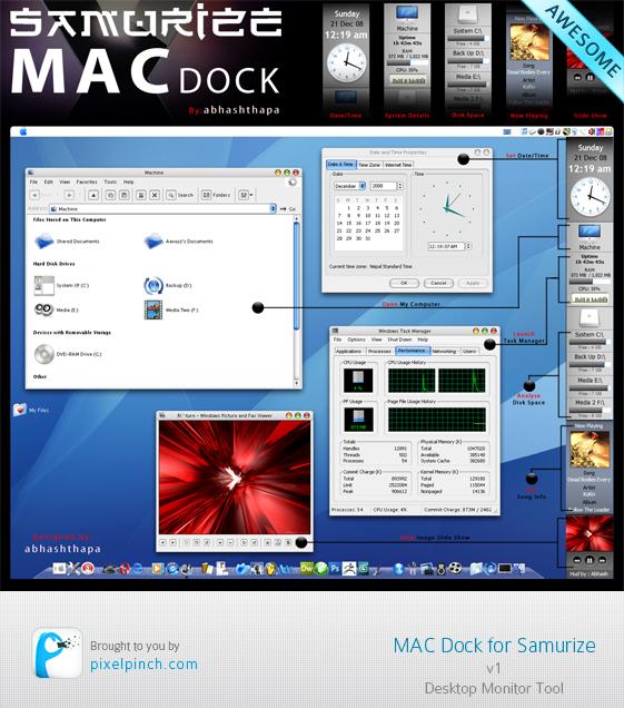 Samurize Mac Dock v1 Skin