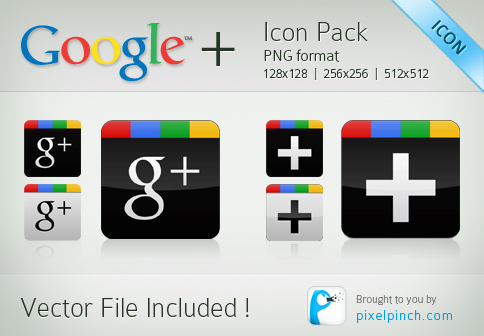 Folder4 Google Plus Vector Icon Pack